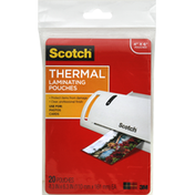 Scotch Thermal Laminating Pouches, 4.37 x 6.36 Inch, Gloss