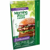 Morning Star Farms Veggie Burgers, Plant Based Protein Vegan Meat, Cheezeburger