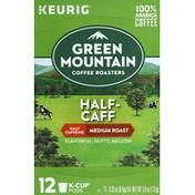 Green Mountain Coffee, 100% Arabica, Medium Roast, Half-Caff, K-Cup Pods