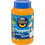 Kraft Original Macaroni & Cheese Flavor Sauce or Sprinkle Cheese Topping