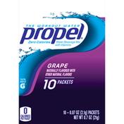 Propel Zero Calorie Grape Flavored Water Beverage Mix