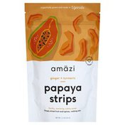 Amazi Papaya Strips, Ginger + Turmeric