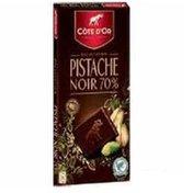Cote D'or Pistache Noir 56% Cacao Dark Chocolate Confection With Caramelized Pistachio Nuts