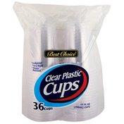 Best Choice 10 Ounce Clear Plastic Cups