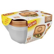Glad Containers & Lids, Deep Dish, Large, Rectangle, 64 Ounce