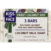 Kiss My Face Soap, Coconut Milk