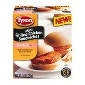 Tyson Mini Grilled Chicken Sandwiches Buffalo Style - 4 CT