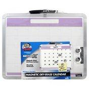The Board Dudes Dry-Erase Calendar, Magnetic, MetaliX Framed