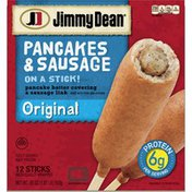 Jimmy Dean Pancakes and Sausage on a Stick Frozen Breakfast