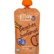 Ella's Kitchen Puree, Super Smooth, Peaches + Bananas, 2 (from 6 Months)