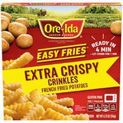 Ore-Ida Ready in 5 Extra Crispy Crinkles French Fries Fried Microwavable Frozen Potatoes