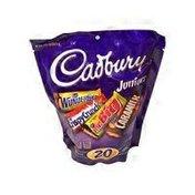 Cadbury Assorted Junior Size Assorted Wunderbar, Chispy Crunch, Mr. Big, & Caramik Candy Bars