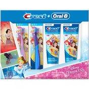 Crest + Oral-B Disney Princess Toothbrush & Toothpaste Kit