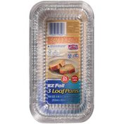 """Hefty EZ Foil 8"""" x 3.75"""" x 2.5"""" with Covers Loaf Pans"""