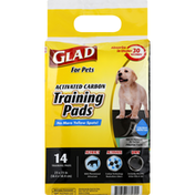 Glad Training Pads, Activated Carbon, For Pets