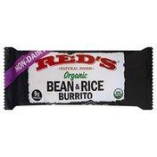 Reds Burrito, Organic, Bean & Rice