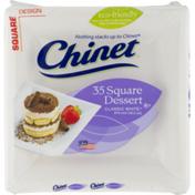 Chinet Plates Square Dessert Classic White - 6 3/8 Inch - 35 CT