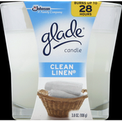 Glade Candle, Clean Linen