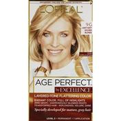 Excellence Permanent Haircolor, Light Soft Golden Blonde 9G
