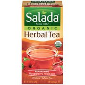 Salada Organic Refreshing Raspberry Hibiscus Herbal Tea