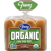Franz Hot Dog Buns, Organic