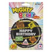 "Betallic Betalliac Mighty Bright! Non-Foil 21"" Balloon Happy Birthday"