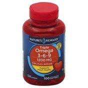 Nature's Reward Triple Omega 3-6-9, 1200 mg, Quick Release Softgels