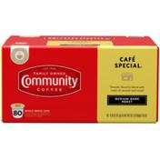 Community Coffee Cafe Special Medium-Dark Roast Single-Serve Cups Community Coffee Cafe Special Medium-Dark Roast Coffee Single-Serve Cups