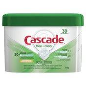 Cascade Free & Clear Actionpacs, Dishwasher Detergent, Lemon Essence