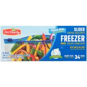 Our Family Fresh Seal Slider Freezer Quart Bags