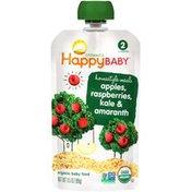 Happy Baby Homestyle Meals Apples, Raspberries, Kale & Amaranth Organic  Baby Food