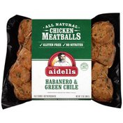 Aidells Habanero & Green Chile Chicken Meatballs