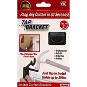 Tap Bracket Curtain Brackets, Bronze, Instant