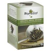 Mighty Leaf Organic Green Dragon, Artisan Whole Leaf Green Tea Pouches