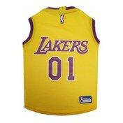 DoggieNation Extra Small NBA L.A Lakers Basketball Dog Jersey