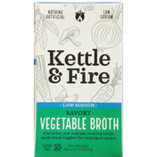 Kettle & Fire Vegetable Broth, Low Sodium