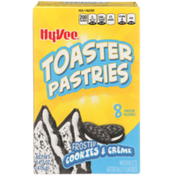 Hy-Vee Frosted Cookies & Creme Toaster Pastries