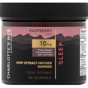 Charlotte's Web CBD Gummies, Sleep, 10 mg, Raspberry
