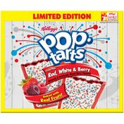 Kellogg's Pop-Tarts Frosted Red White & Berry Limited Edition Toaster Pastries