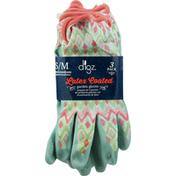 Digz Garden Gloves, Latex Coated, Small/Medium, 3 Pack