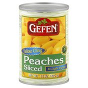 Gefen Yellow Cling Peach Slices In Light Syrup