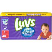 Luvs Super Absorbent Leakguards Newborn Diapers Size 1 48 count  Diapers