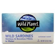 Wild Planet Wild Sardines Skinless & Boneless Fillets in Water