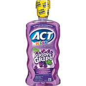 ACT Fluoride Rinse, Anticavity, Alcohol Free, Groovy Grape, Kids