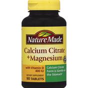 Nature Made Calcium Citrate & Magnesium, Tablets