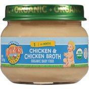 Earth's Best Stage 1 Chicken & Chicken Broth Organic Baby Food