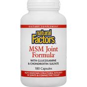 Natural Factors MSM Joint Formula, Capsules