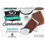 So Delicious Dairy Free Coconut Coconut Milk Frozen Dessert Sandwich