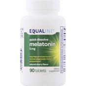 Equaline Melatonin, Quick Dissolve, 5 mg, Tablets, Natural Cherry Flavor