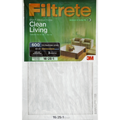 Filtrete Air Cleaning Filter, Electrostatic, Dust Reduction, 16 x 25 x 1